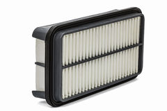 Car filter, auto spare part, iisolated on white, with clipping path Royalty Free Stock Photos