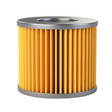 Car filter close-up 3d illustration. Car filter close-up isolated on a white background. 3d illustration high resolution Royalty Free Stock Image