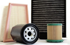 Car filters Royalty Free Stock Photos