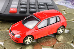 Car Finance. A car finance concept, to cover all financial aspects of a car Stock Photo
