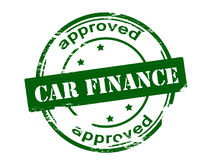 Car finance approved. Rubber stamp with text car finance approved inside,  illustration Stock Photo