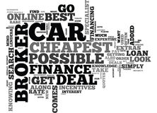 A Car Finance Broker Can Get You The Cheapest Deal Possible Word Cloud. A CAR FINANCE BROKER CAN GET YOU THE CHEAPEST DEAL POSSIBLE TEXT WORD CLOUD CONCEPT Stock Photo