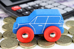 Car Finance Calculator. A car finance concept, to cover all financial aspects of a car Royalty Free Stock Photos