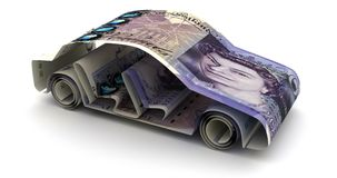 Car Finance with English Pound. Car Finance animtion with English Pound royalty free illustration