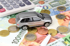 Car Finance Euro Royalty Free Stock Photography