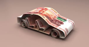 Car Finance Russian Ruble stock video footage