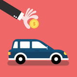 Car finance and savings concept. Flat style illustration Stock Photography