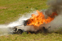 Car on fire Royalty Free Stock Image