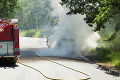Car Fire Royalty Free Stock Photography
