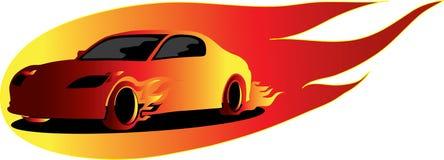 car fire Στοκ εικόνα με δικαίωμα ελεύθερης χρήσης