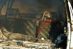 Car fire detail Stock Photos