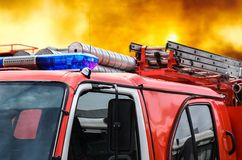 Car fire protection Stock Images