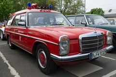 Car Fire Service Mercedes-Benz W114 Station wagon Royalty Free Stock Images