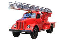 Car with the fire stairs Stock Image