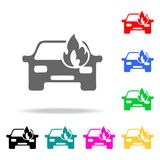 Car fired icon. Element firefighters multi colored icons for mobile concept and web apps. Icon for website design and development,. App development. Premium Stock Image