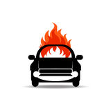 Car fired Vehicle insurance Icon. Flat pictograph Icon design, Vector illustration Stock Image