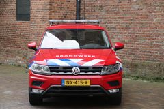 Car of firefighter officer of Haaglanden  in the Netherlands, the hague. royalty free stock photos