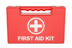 Car First Aid Kit, 3D rendering Royalty Free Stock Image