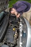 Car fixing Royalty Free Stock Photos