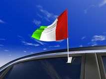 Car flag. Italy car flag - Europe cup 2008 Stock Images