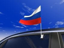 Car flag Stock Photo