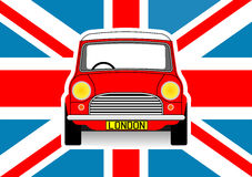 Car and flag Stock Photography