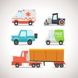 Car Flat Icon Set 3 Royalty Free Stock Image