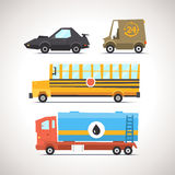 Car Flat Icon Set 6 Stock Photos