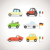 Car Flat Icon Set 8 Stock Photo