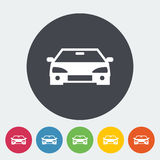 Car flat icon. Car. Single flat icon on the circle. Vector illustration vector illustration