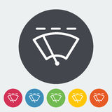 Car flat icon wiper. Car wiper. Single flat icon on the circle. Vector illustration Royalty Free Stock Photo