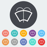 Car flat icon wiper. Car wiper. Single flat icon on the circle. Vector illustration Stock Photography