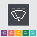 Car flat icon wiper. Royalty Free Stock Photography