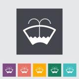Car flat icon wiper. Royalty Free Stock Photos