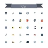 Car Flat Icons Stock Photo