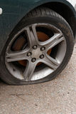 Car flat tyre Royalty Free Stock Photography