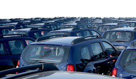 Car fleet Stock Image