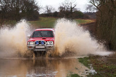 Car in Floods Royalty Free Stock Photos