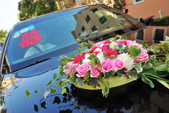 Car with flower Royalty Free Stock Image