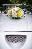 Car flower bouquet Royalty Free Stock Photography