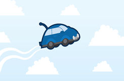 Car flying Stock Images