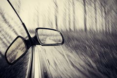 Car in forest Royalty Free Stock Images