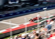 Car formula 1 on a blurred background royalty free stock photography