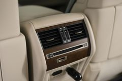 Car four zone climate control. royalty free stock image