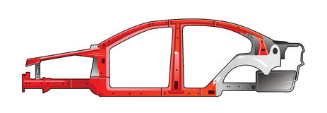 Car frame Stock Photography