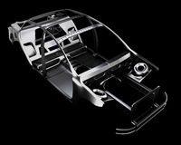 Car Frame Isolated. 3d illustration Stock Image