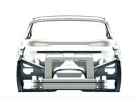 Car Frame Isolated. 3d illustration Royalty Free Stock Photo
