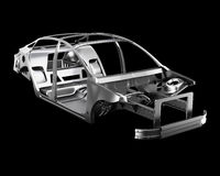 Car Frame Isolated. 3d illustration Stock Photos