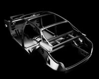 Car Frame Isolated. 3d illustration Royalty Free Stock Images