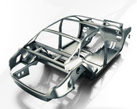 Car Frame Isolated. 3d illustration Stock Photo